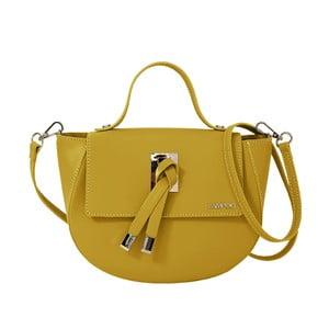 Žltá kožená kabelka Lampoo Kucca