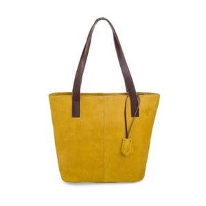 Žltá kožená kabelka Woox Trogia Lutea