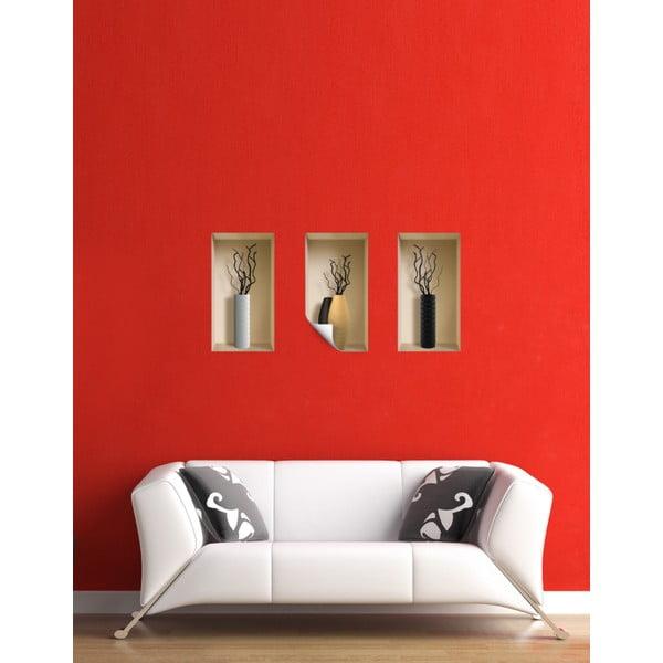 3D samolepky na stenu Vases Lugano