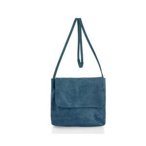 Modrá kožená kabelka cez rameno Woox Costa