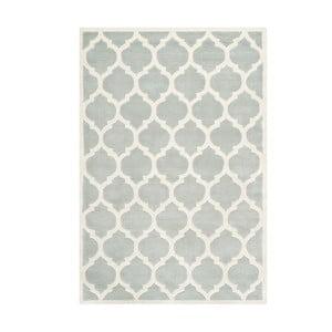 Sivý vlnený koberec Camilla Grey, 121×182 cm