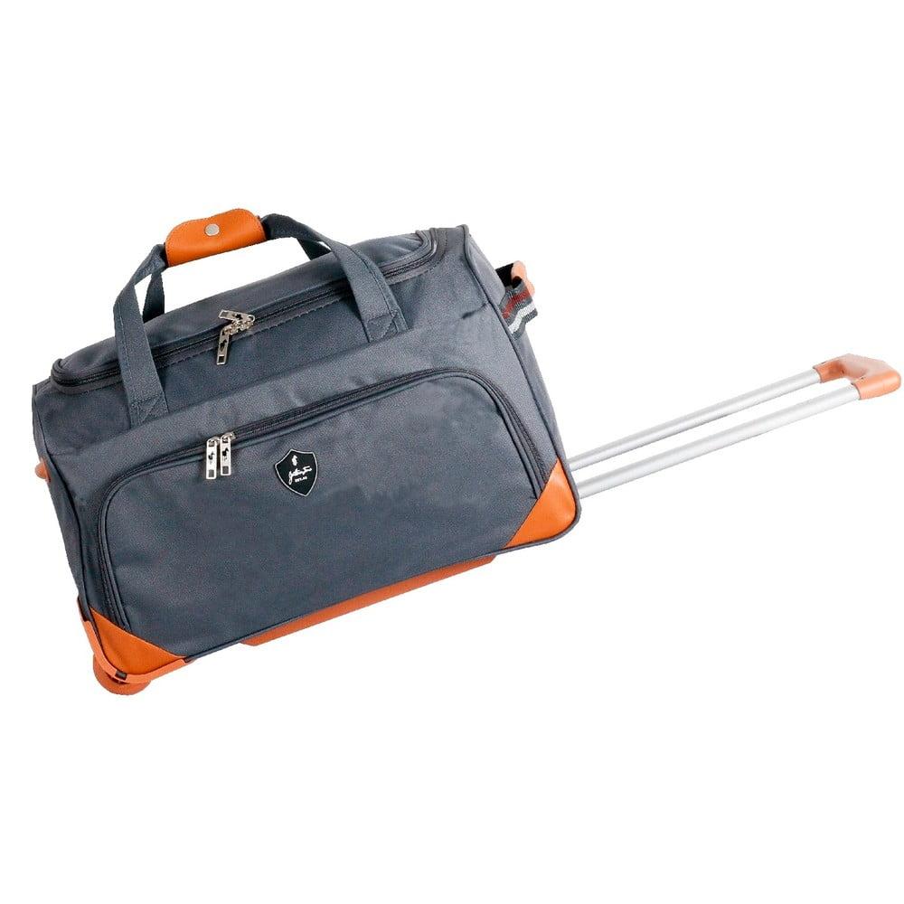 Sivá cestovná taška na kolieskách GENTLEMAN FARMER Sporty, 45 l