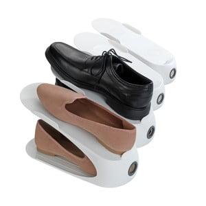 Biely stojan na 2 páry topánok Wenko Smart