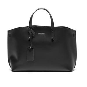 Čierna kožená kabelka Luisa Vannini Cristine