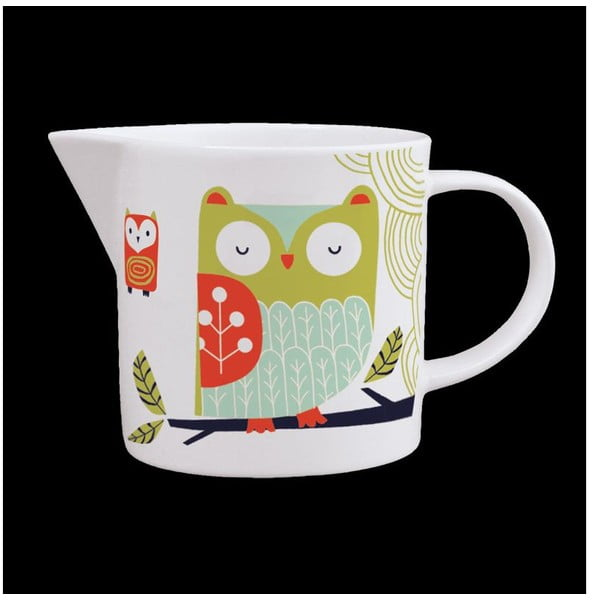 Džbánik z kostného porcelánu Folkland Barn Owl