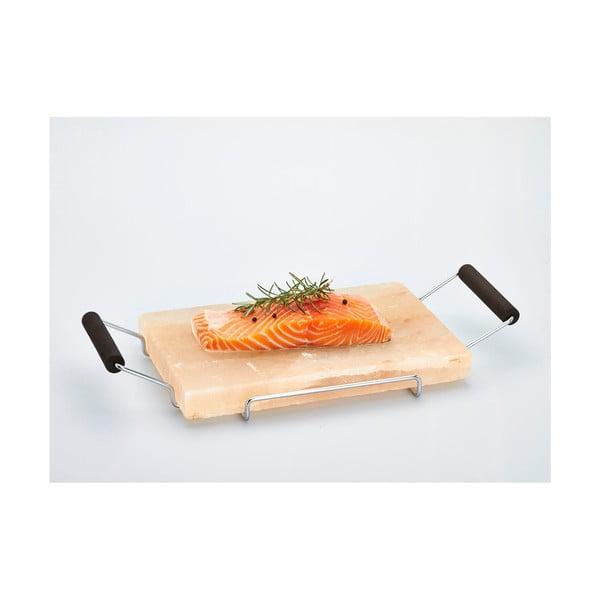 Servírovací podnos zo soľnej dosky Salt Plate, 22x45 cm