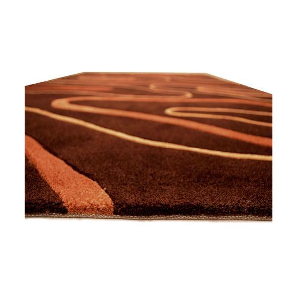 Ručne tkaný koberec Phoenix, 140x200 cm, čokoládový