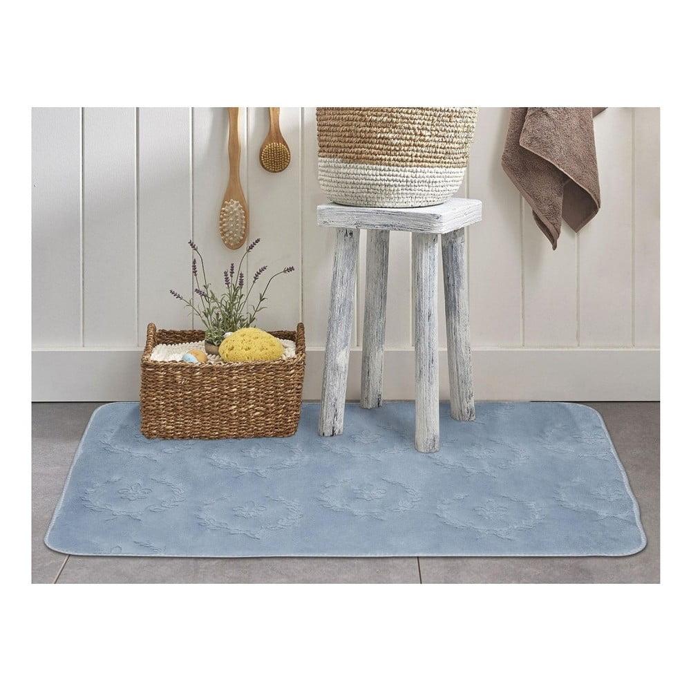 Modrá kúpeľňová predložka Madame Coco Nala, 70×110 cm
