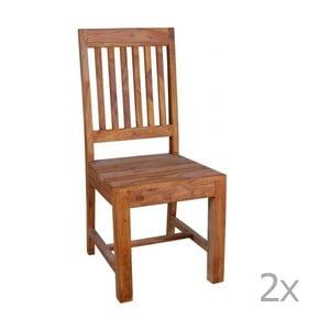 Sada 2 jedálenských stoličiek z palisandrového dreva Massive Home Dina