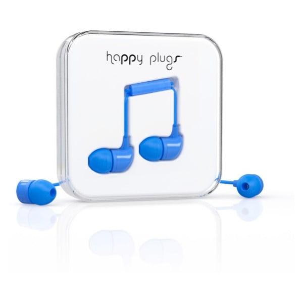 Slúchadlá s nadstavcami Happy Plugs, modre
