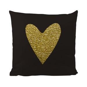 Vankúš Black Shake Precious Heart, 50x50cm