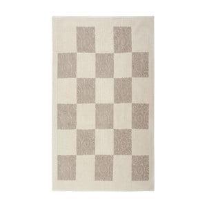 Krémový bavlnený koberec Floorist Check, 160x230cm