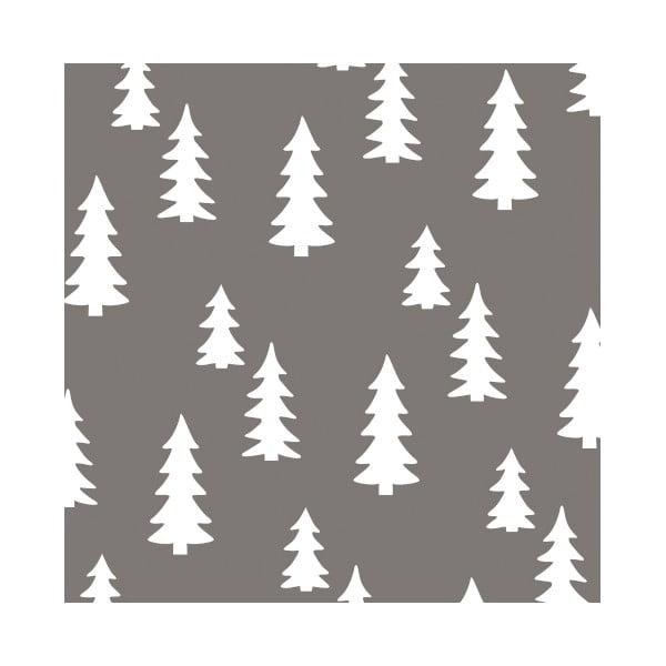 Sivé obrúsky  Clayre & Eef Xmas Tree, 20ks