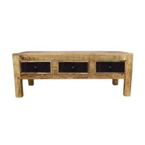 Konferenčný stolík z masívneho mangového dreva Massive Home Bella, dĺžka 120 cm