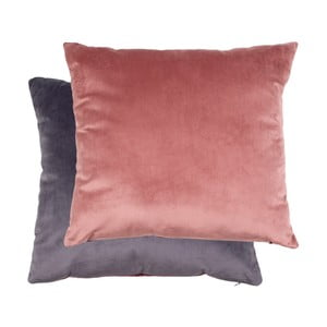 Sada ružového a sivého vankúša so zamatovým poťahom House Nordic Braga, 45 × 45 cm