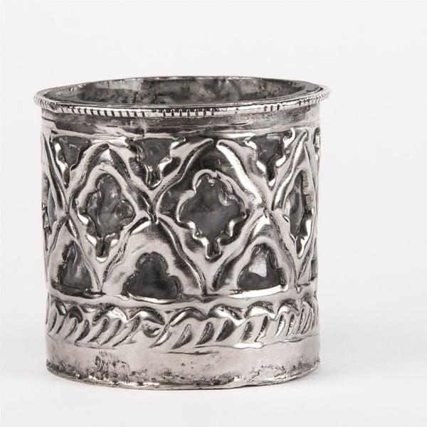 Svietnik na čajovú sviečku Tepaný kov