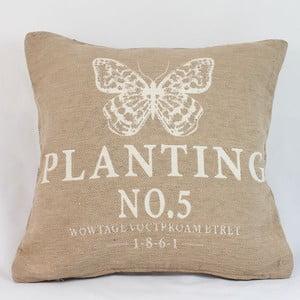Obliečka na vankúš Planting 40x40 cm, svetlá