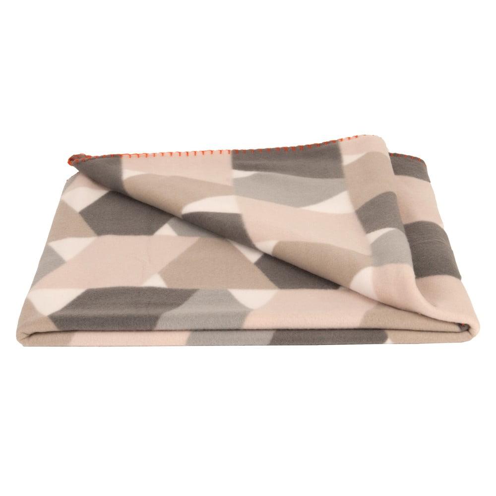 Deka z ovčej vlny PT LIVING Layers Pink, 180 × 150 cm