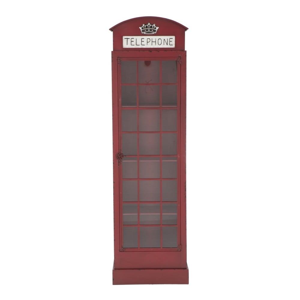 Červená železná vitrína Mauro Ferretti London Telephone Booth