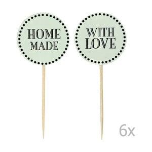 Sada 12 zelených zapichovacích ozdôb na tortu Miss Étoile Home Made With Love