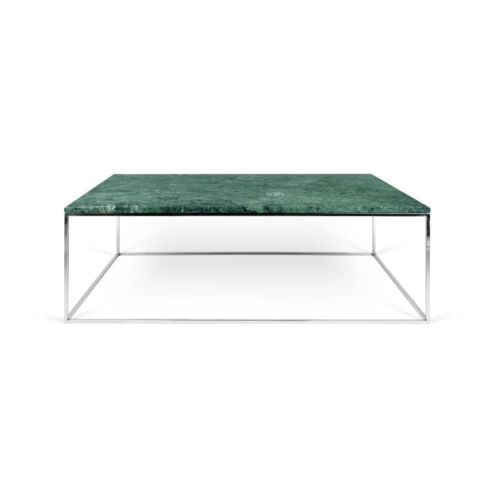 Zelený mramorový konferenčný stolík s chrómovými nohami TemaHome Gleam 120  cm 33e9f1b287