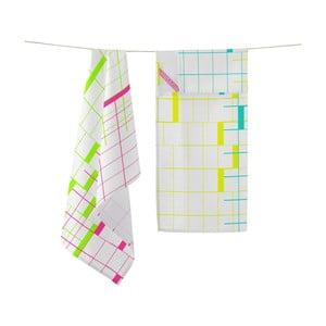 Sada dvoch bavlnených utierok Happy Friday Bauhaus, 70×50 cm