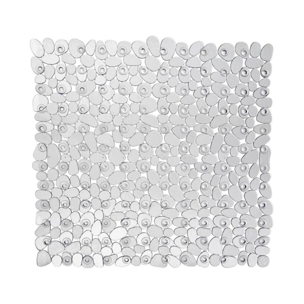 Transparentní protišmyková kúpeľňová podložka Wenko Drop, 54 × 54 cm