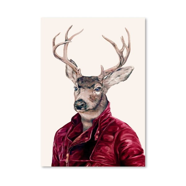 Plagát Deer, 30x42 cm
