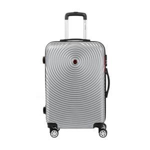 Sivý kufor na kolieskach Murano Traveller, 65×40cm