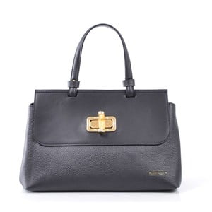 Kožená kabelka Isaure, čierna