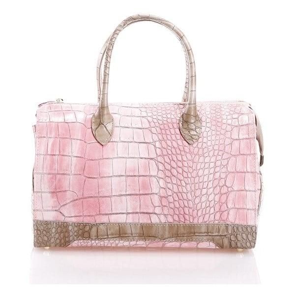 Kožená kabelka Livie, ružová
