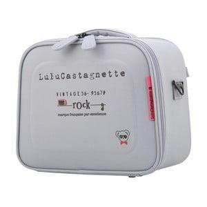 Svetlosivý príručný kufor LULU CASTAGNETTE Greg, 11 l