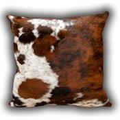 Vankúš z pravej kože Whole Cow, 45x45 cm