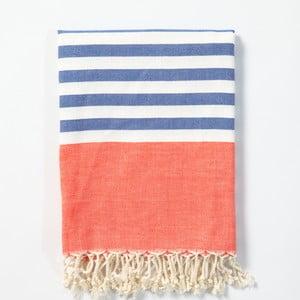 Hammam osuška z ručne tkanej bavlny ZFK Laurits, 170 x 100 cm