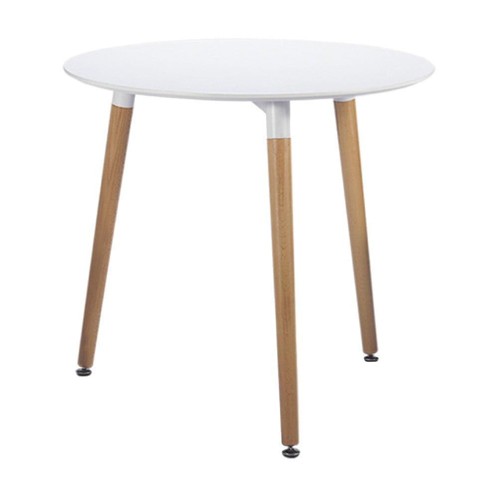 Biely jedálenský stôl Leitmotiv Elementary, ø 80 cm