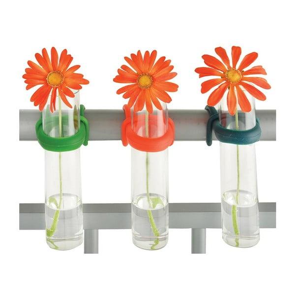 Sada 3 váz na zábradlie Esschert Design Happy