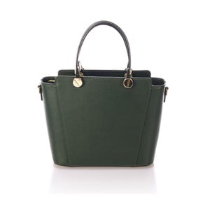 Zelená kožená kabelka Giulia Massari Karina