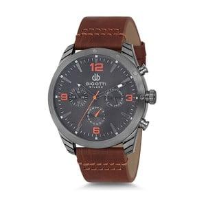 Pánske hodinky s hnedým koženým remienkom Bigotti Milano Dandy