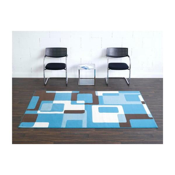 Modrý koberec Hanse Home Hamla Retro, 80x300 cm