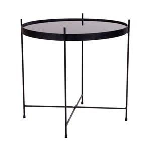 Čierny konferenčný stolík House Nordic Venezia, ø 48 cm