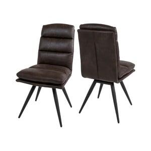 Tmavohnedá jedálenská stolička Canett Colle