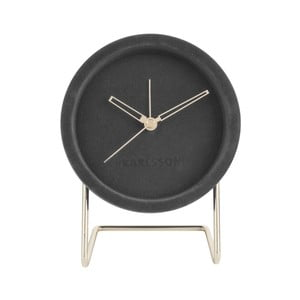 Tmavosivé stolové hodiny so zamatom Karlsson Lush