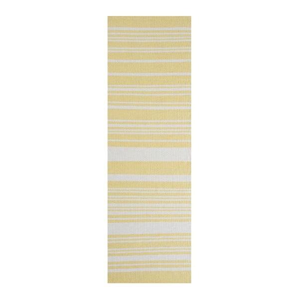 Žltý bavlnený koberec Linie Design Glorious Yellow, 60x90cm