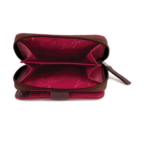 Peňaženka Lois Burdeos, 14x9 cm