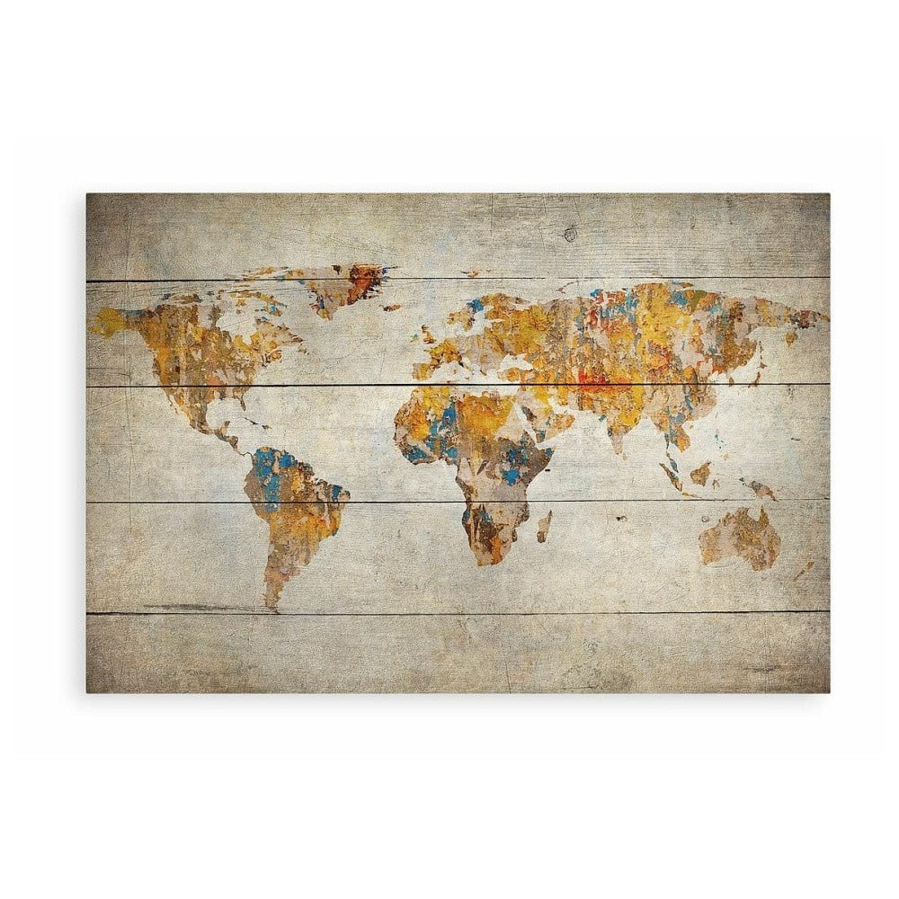Drevený obraz Really Nice Things World, 60 x 40 cm