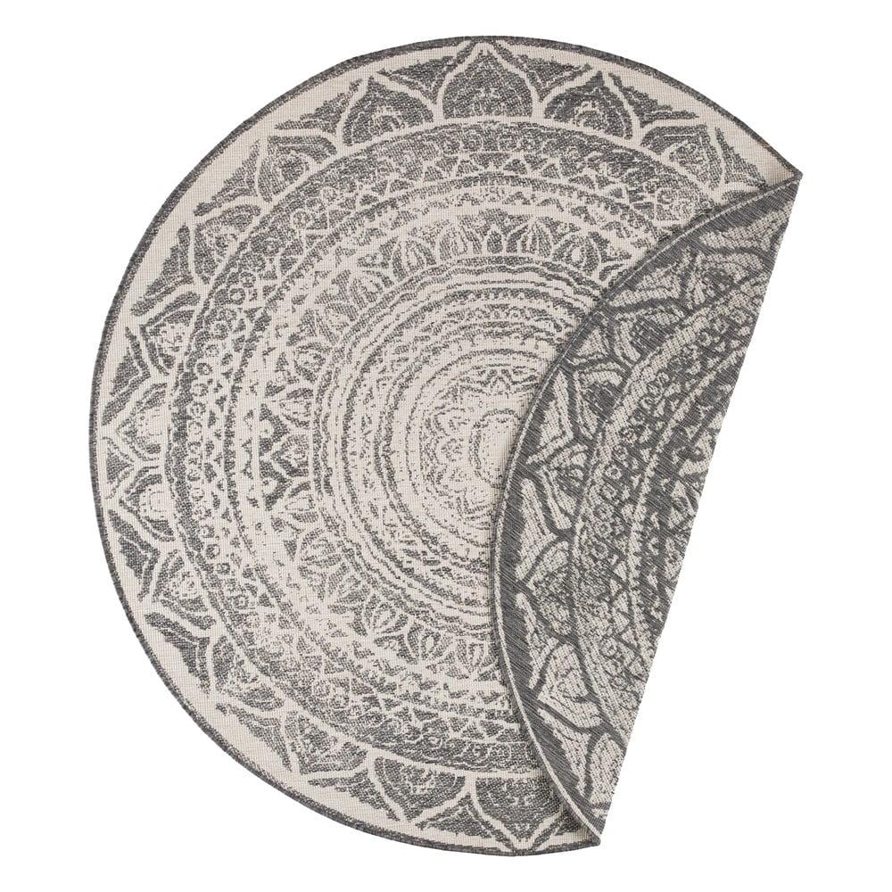 Sivo-krémový vonkajší koberec Bougari Siruma, ø 140 cm