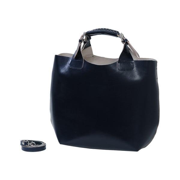 Tmavomodrá kabelka z pravej kože Andrea Cardone Edoardo