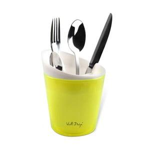 Žltá dóza na príbory Vialli Design Livo