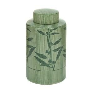 Zelená kameninová váza Santiago Pons Florist, výška 20 cm