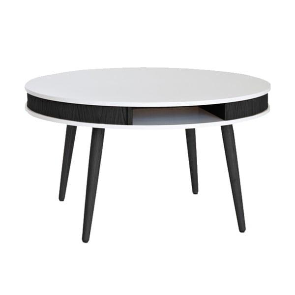 Čierno-biely konferenčný stolík RGE Hugo 90 cm